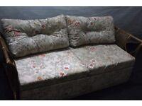 Wicker Sofa Bed Small Double ReTrO