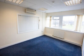 Office, with additional warehouse spaces available, glasgow, near southside, right next to motorway