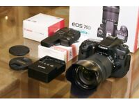 Canon 70d DSLR with lens and accessories