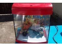 FISH TANK- AQUA START 320 FISH TANK WITH SPONGE BOB FIGURES