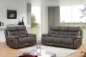 Weekend Sale Air Leather Recliner  ** Real Leather Sofa Set Start