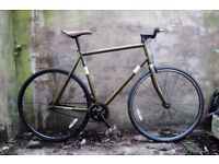 SCHWINN. 23.5 inch, 59 cm. Single speed road bike, coaster brake (pedal brake)