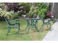 Heavy Cast Iron Table Ends and Chair / Bench Ends.