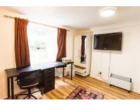 All bills included - Large studio apartment in Leigh Street, Bloomsbury, London WC1H