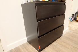 Ikea dark brown drawer chest