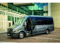 Luxury 16 seat Mercedes Minibus Hire with Driver in the UK - from only £300