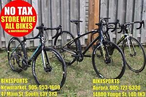 BIKESPORTS - NO TAX! BRAND NEW! Specialized and Giant Road Bikes!