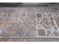 Large Rug cream brown blue colours 8ft x 5 ft 6 inch