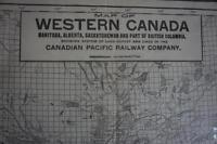 Exceedingly Rare 1912 Railway Map of Western Canada -Great Find