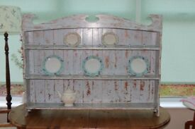 Shabby Chic wall mounted (or stand on table/worktop) solid pine (dresser) unit