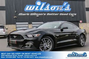 2015 Ford Mustang GT PREMIUM 5.0L V8! LEATHER! REAR CAMERA! PUSH