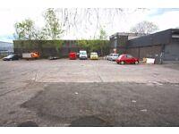 Car yard, sales forecourt, car park, storage site, parking ground, car & van hire