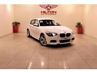 BMW 1 SERIES 2.0 118D M SPORT 5d 141 BHP NO DEPOSIT NEED - DRIV (white) 2014