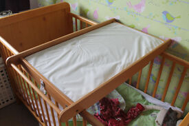 John Lewis cot top changer including mat