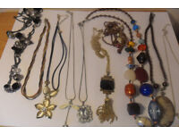 Over 70 necklaces & Bracelets mostly new some Silver