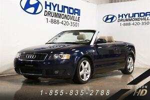 2005 Audi A4 1.8T CABRIOLET + MAGS +CUIR + WOW!!