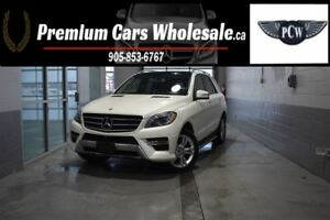 2014 Mercedes-Benz M-Class ONLY 53000 KMS! BLUETEC 4MATIC PANO F
