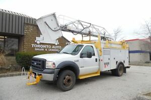 2006 Ford F-550 Telelift ladder/bucket,Diesel power, 12ft servic