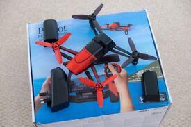 Parrot Bebop Drone 14Mpx/FullHD Video + SkyController + 4 Batteries + Hood + Tablet Holder + Spares