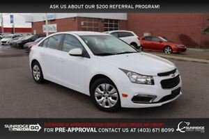 2015 Chevrolet Cruze LT, CLOTH, BLUETOOTH, CRUISE CONTROL