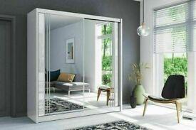 👌💖 BRAND NEW MODERN 2 & 3 DOORS MIRRORED SLIDING WARDROBES, LED OPTION 😍