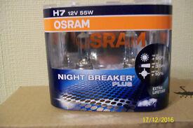 OSRAM H7 NITE BREAKER BULBS NEW