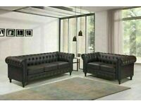 🔵💖🔴70% SALE OFF 🔵💖🔴NEWLY ARRIVAL COMFORTABLE FEEL CHESTERFIELD LEATHER 3+2 & CORNER SOFA