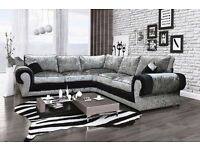 Brand new crushed velvet tango sofa collection also available as a 3+2 seat set***CLICK SEE ALL ADS