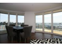 WOW! 3 BEDROOM WITH LARGE WRAPAROUND BALCONY & 24 HOUR CONCIERGE IN GATEWAY TOWER, ROYAL DOCKS