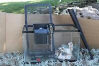 10 gallon Fish Tank, filter, lids, heater