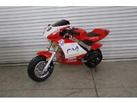NEW Mini Moto Pocket Bike 50cc - Limited Edition - Red/White/Black - Quadbike Motorbike Scooter