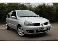 RENAULT CLIO 1.2 16V Campus Sport 2007 3dr **CAM BELT+SERVICE+MOT INCLUDED IN PRICE** (silver) 2007