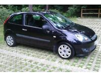 IDEAL FIRST CAR Black 07 REG Fiesta 1.2 Zetec Style Climate 3 Dr, MOT'd, S/History (Facelift Model)