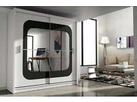 CASH ON DELIVERY-CLASSICAL DESIGN CHELSEA 2 DOOR MIRROR BEDROOM WARDROBE-FAST DELIVERY