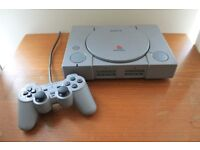 Sony Playstation 1 SCPH-5552 Console and Dual Analog Controller PAL Grey