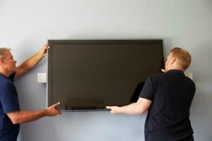 Professional TV Wall Mounting and Installations - Warranted & Insured - Starting at $59.95!!!