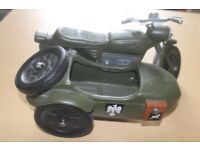 Action man german motorcycle and sidecar