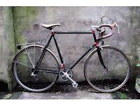 RALEIGH, 25 inch, Reynolds 501, vintage racer racing road bike, 10 speed