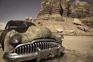 """Beautiful 24""""x36"""" High Definition """"OLD ABANDONED CAR"""" Picture."""