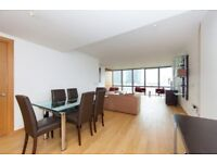 STUNNING TWO BEDROOMS WITH AIR CON & PARKING IN NO1. WEST INDIA QUAY, HERTSMERE ROAD, CANARY WHARF