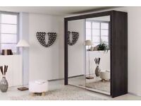 """Wow Offer"" -Brand New -2 Door Sliding Mirror Wardrobe -- 5 Different Sizes -- Same Day Delivery"