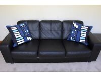 Black leather Ikea SKOGABY sofa - like new and barely used! Rated 4.8/5 Stars