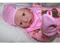 Saskia reborn cuddle baby