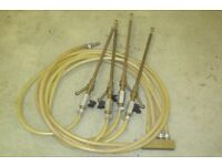 Damp proofing liquid injection rods