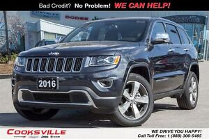 2016 Jeep Grand Cherokee Limited, SUNROOF, LEATHER, BLUETOOTH