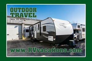 2018 FOREST RIVER AVENGER 32DEN OPEN CONCEPT TRAVEL TRAILER