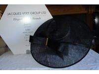 Jaques Vert Black Hat/Facinator with gold detail