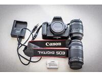 Canon EOS 600D with 18-55mm and 55-250mm kit lenses