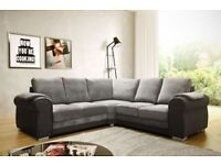 Grey Corner Sofa Brand New can deliver and assemble local only Grey Fabric and Black Leather Chair