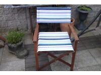 Directors folding chair garden chair hardwood frame